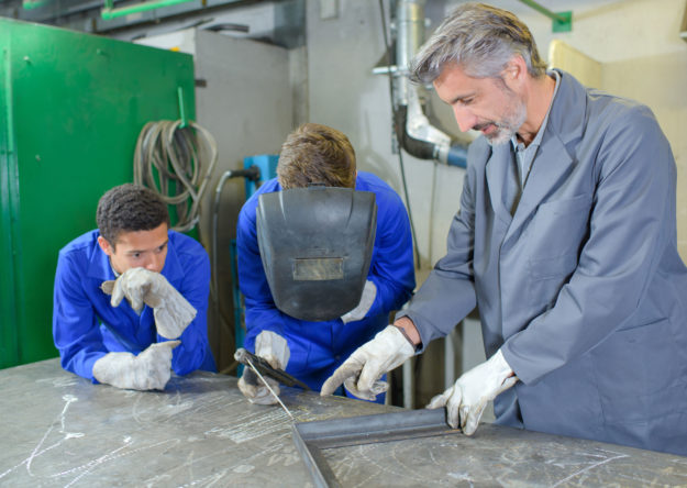 Teaching welding precision